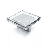 РУЧКА CUBIX L-32 хром/стекло