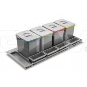 Комплект ведер для мусора MULTINO 1200, 4 x 15 л