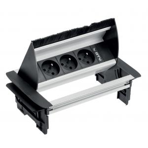 Универсальный блок 3x220 с пропуском под кабель